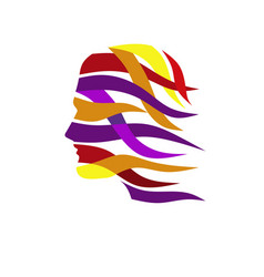Abstract color human head vector