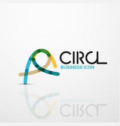 abstract swirl lines symbol circle logo icon vector image