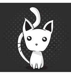 Adorable kitten vector image
