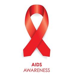 Aids awareness ribbon vector
