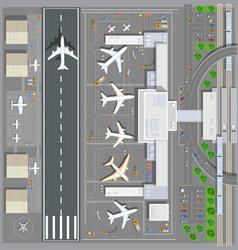 Airport passenger terminal vector image vector image