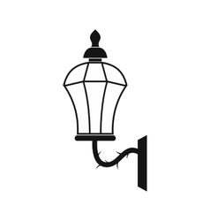 An old lamp in London icon simple style vector image