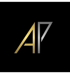 Ap letters logo vector