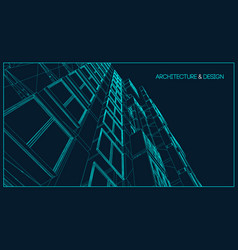 Architecture line background building vector