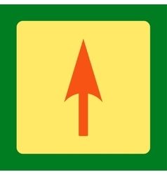 Arrow Axis Y flat orange and yellow colors rounded vector image