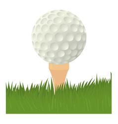 ball for golf icon cartoon style vector image