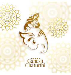 beautiful design ganesh chaturthi festival vector image