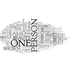 beauty fitness text word cloud concept vector image