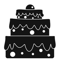big cake icon simple style vector image