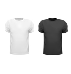 Black and white men polo shirts Design template vector image