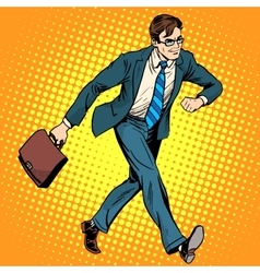 Businessman optimist goes to work vector image