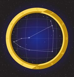 capricorn star horoscope zodiac in fish eye vector image