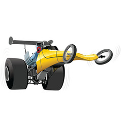 cartoon dragster vector image