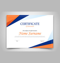 certificate template banner with polygonal vector image