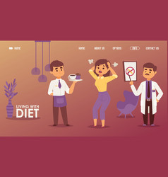 Chocolate ban living with diet vector