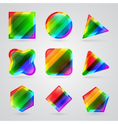 colorful geometric shapes vector image