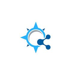 Compass share logo icon design vector