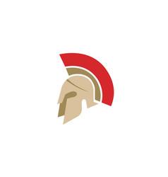 creative spartan helmet logo vector image