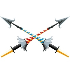 Crossed spear vector