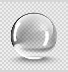 Crystal ball light on transparent vector