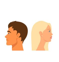 divorce couple sad man and woman portrait closeup vector image