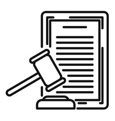 Divorce judge document icon outline style vector