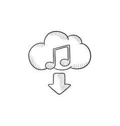 Download music sketch icon vector image