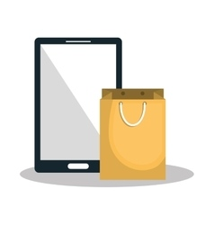 e-commerce smartphone shop online design vector image