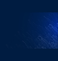 electronic contacts on dark blue background vector image