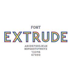 extrude font alphabet vector image
