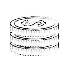 Figure coins money save vector