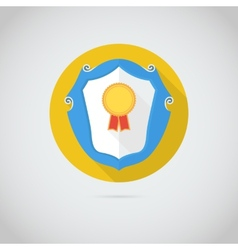 Flat icon with gold medal vector