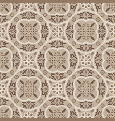 Floor tiles ornament brown pattern print vector