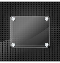 glass frame on grid background vector image