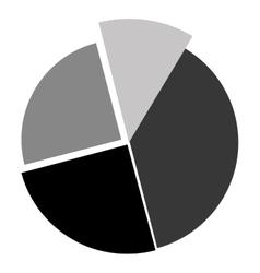 Grey cake diagram vector