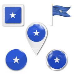 High detailed flag somalia vector