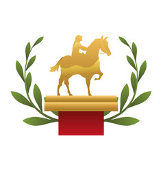 horse riding trophy vector image