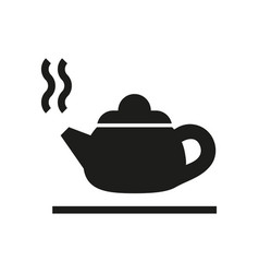 Hot kettle silhouette icon on white background vector