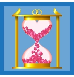 Hourglass of love vector image