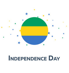 Independence day of gabon patriotic banner vector