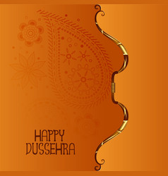 Indian happy dussehra festival background with vector