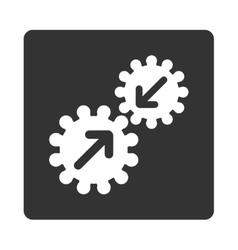 Integration icon vector