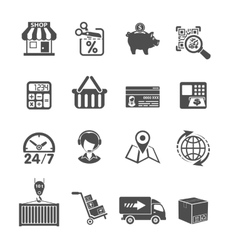 Internet Shopping and Delivery Icons Set vector
