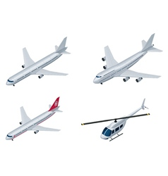 isometric airplanes vector image