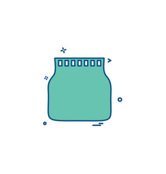 Jar pot bottle icon desige vector