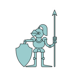 Knight isolated armor warrior medieval soldier vector