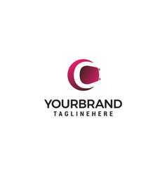 letter c in circle shape logo design concept vector image