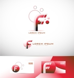 Letter F logo icon set vector image