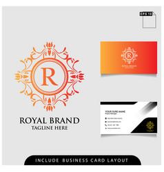 logo design royal brand modern concept with vector image