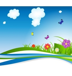 Natural floral background vector image